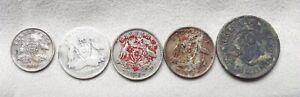 Australian predecimal silver scrap various dates