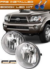 LED + 2005-2011 Toyota Tacoma Fog Lights Clear Front Driving Lamps COMPLETE KIT