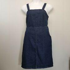 Universal Thread 10 Jean Dress Jumper Sleeveless Pockets Retro