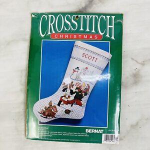 Bernat Santas Workshop Toys Christmas Cross Stitch Stocking Kit 95-8776-00