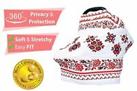 Premium Nursing Breastfeeding Cover Stretchy and Breathable Carseat Canopy Set