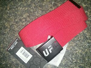 Red UFC Knock Out Web Belt