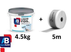 4.5kg + 5m Tape AQUA BUILD Waterproof Tanking Membrane + Tape, Wet Room, Shower