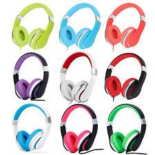 RockPapa Over Ear Kids Adults Foldable Headphones for iPhone iPod Kindle DVD PC