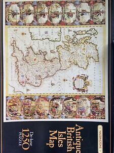 Waddingtons Deluxe Antique British Isles Map Anglo Saxon 1250 Jigsaw Puzzle
