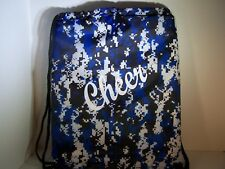 Cheer Bags | Liberty Drawstring | Digital Camo Roy w/White Cheer Design |18Lx14W
