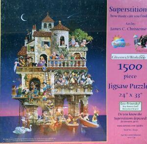 "Jigsaw puzzle ""Superstitions"" 1500 pieces JAMES C CHRISTENSEN"