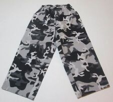 SPIDERMAN Boys camouflage pants 4T 5T elastic waist black grey camo 4 5 FREESHIP