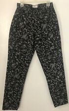 REMINISCENCE Black Pants Womens S Zip Front Flicker Print Rockabilly 90s Vintage