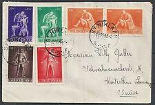 Belgium 1945 cover St.Niklaas to Winterthur