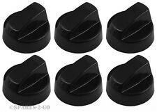 6 x BEKO Black Oven Cooker Hob Flame Burner Hotplate Control Switch Knobs