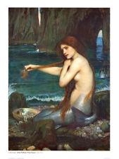 A Mermaid, 1900 Art Poster Print by John William Waterhouse, 24x32