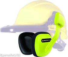 Delta Plus Suzuka 2 SNR 27dB Hi Viz Yellow Hard Hat Ear Defenders Ear Protectors