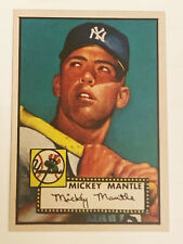 Mickey Mantle 1952 Topps New York Yankees Novelty Rookie RC Baseball Card #311