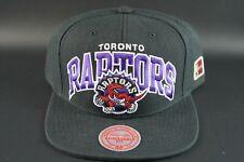 Toronto Raptors Mitchell & Ness NBA BLACK TEAM ARCH Snapback Hat Cap HWC New