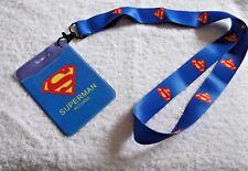 Superman Returns ID Card Badge/paso titular + Cordón