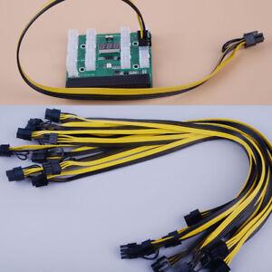 10pcs 50cm Quality 6pin to 8Pin (6+2Pin) PCI-E Cable 18AWG Mining