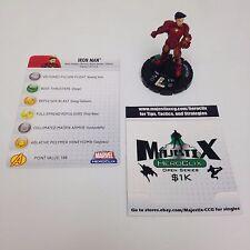 Heroclix Secret Invasion set Iron Man #021 Uncommon figure w/card!