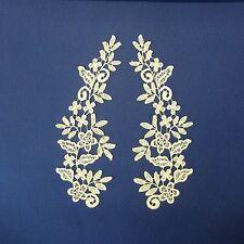 Champagne Cream Lace Applique Pair #66 Aust SellerTutu Dance CostumeTrim