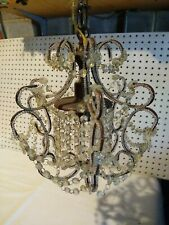 Small Hanging Crystal Glass Chandelier Light Bathroom Kitchen Hallway