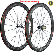 Superteam 700C 50mm Clincher Wheels 23mm Width Full Carbon Fiber Wheels Bicycle