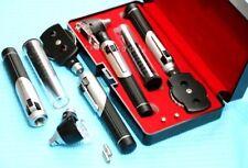 New Fiber Optic Otoscope Ophthalmoscope Examination Led Diagnostic Ent Set