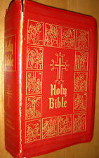 Holy Bible Old Testament Douay-Challoner Illustrated Red Letter O'Connell 1951
