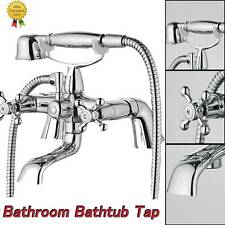 UK Traditional Bath Filler Shower Mixer Tap with Handset Bathroom Taps Chrome