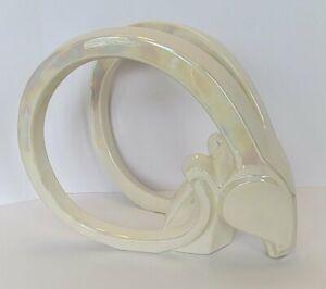 Vintage JARU California Ceramic Modernist Gazelle - Ram Head EX LARGE Sculpture