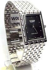 New Citizen Man, Silver-tone, Analog Quartz, Black-dial  Dress Watch