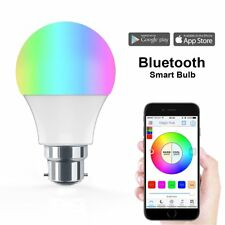 B22 Bombilla Inteligente Bluetooth LED Regulable Control Remoto APP iOS Android