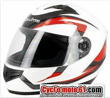 Casque Moto / Scooter Intégral S-line S420 Blanc / Rouge XS