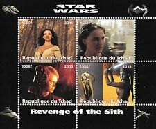 STAR WARS REVENGE OF THE SITH REPUBLIQUE DU TCHAD 2015 MNH STAMP SHEETLET