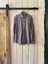 Vintage 90s Blue Black Plaid Long Sleeve Button Down Shirt by Adolfo size L