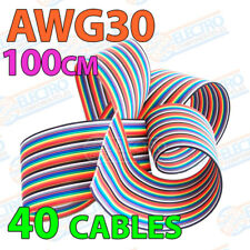 Cable plano AWG30 100cm 40 cables 30awg 40p Colour Flat Ribbon 10 colores metro