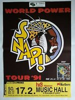 SNAP   1991  FRANKFURT -- orig.Concert Poster - Konzert Plakat  A1  NEU