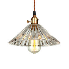 Industrial Clear Glass Pendant Lighting Ceiling Hanging Light Lampshade Fixture