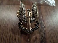 MILITARY SAS BRITISH SPECIAL FORCES HAT BERET PIN BADGE DOUBLE CLUTCH BACK