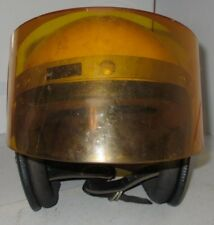 VINTAGE Z90.1 1971 Yellow RG-9 MOTORCYCLE HELMET w/ ILC Vari-Shield Snow Mobile