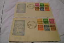 ISRAEL(1948)-SCOTT 1-6=-HAIFA & TEL AVIV/STAR OF DAVID/CANCELS -LOT of 2 FDC