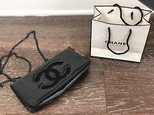 "Chanel VIP Medium Chain Crossbody Black Purse Bag W10.5"" X H6.5"" X D1.5"" - NEW"