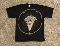 Crooks And Castles Mens S/S Graphic T-Shirt XL Black Medusa Stars Spell Out EUC