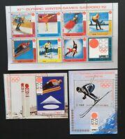 Yemen A.R. -Olympic Games SAPPORO-1972,1M/Sh.+ 2S/Sh., MNH, YAR 060E