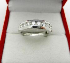 Anniversary 14k White Gold Natural Diamond 0.90 tcw Wedding Band Ring