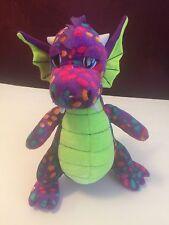 "Stuffed Animals Purple Dragon With Polkadots 12"""