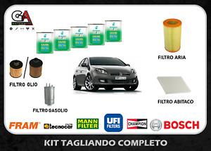 Kit tagliando Fiat Bravo 1.6 multijet 120cv 88kw 4 filtri + 5 litri Selenia 5W30