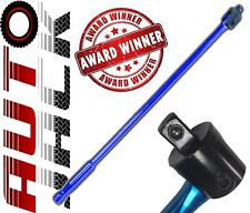 "24"" 600mm Long Breaker Bar 1/2"" Socket Sq Drive Power Flexi Knuckle Blue Chrome"