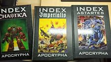 warhammer 40000 40k Index Apocrypha bundle: imperialis, astartes, chaotica