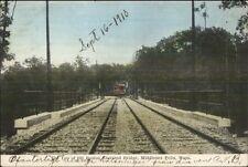 Middlesex Fells Ma Trolley on Elevated Rr Bridge c1910 Postcard