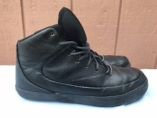 Air Jordan Grown V.9 Black/Black Leather Sneakers Shoes US 10.5 453930-010